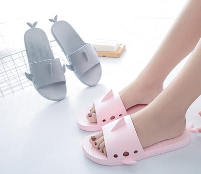 Women's Shark Daily Plastic Flat Heel Slippers