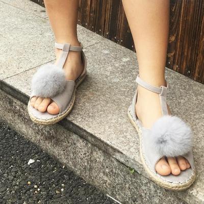 Plus Size Peep Toe Adjustable Buckle Sandals