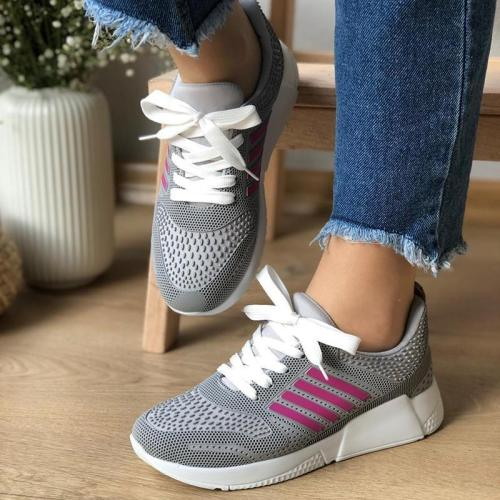 Plus Size Outdoor Lace Up Sneakers Athletic Trainers