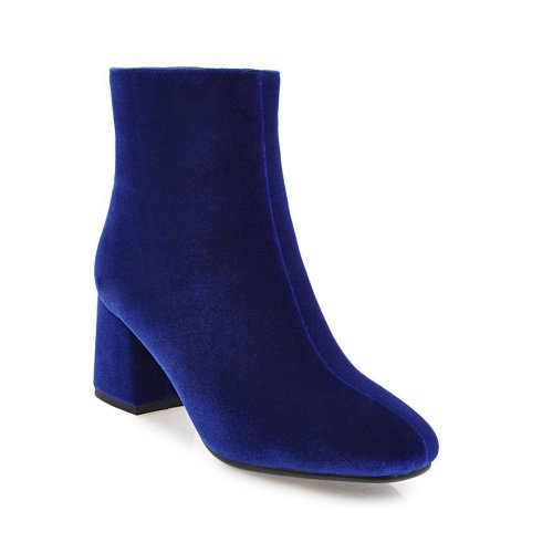 Autumn Winter Short Boots Thick Heel High Heel Large Size Women's Ankle Boots