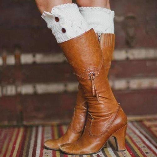 All Season Women Elegant Mid Heel Boots