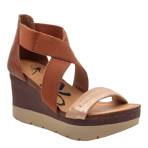 HALF MOON in NEW TAN Wedge Sandals