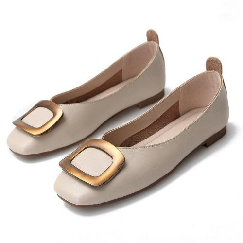 2019 New Granny Shoes Square Buckle Shallow Mouth Single Shoes Female Soft Foldable Big Size Flat Casual Women's Shoes YX0005