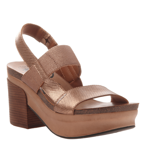 INDIO in COPPER Wedge Sandals