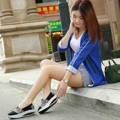 Platform Shoes Women Height Increasing 5cm Slip-on Loafers Woman Low-cut Fashion Sneakers Shockproof Casual Ladies Espadrilles