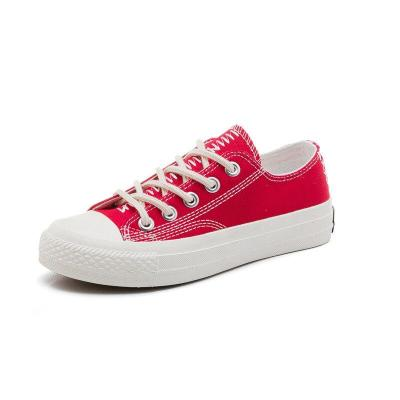 Women vulacnize shoes 2020 fashion simple lace-up solid breathable women casual shoes flats canvas shoes women zapatos mujer