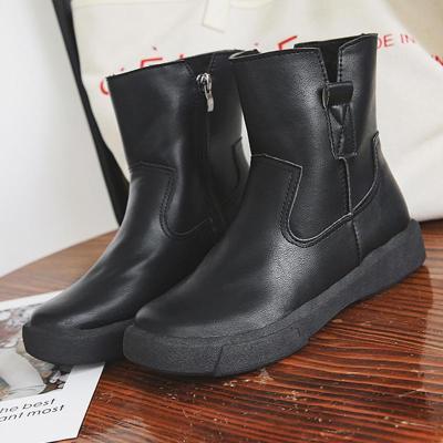 Women's  Low Heel Vintage Round Toe Boots