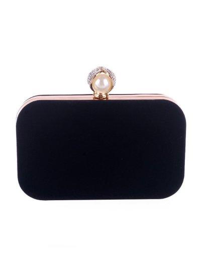 Pearl Basic Diamante Evening Clutch Bag