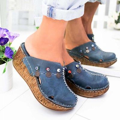 Cuteshoeswear CuteshoeswearLitthing Women Sandals Summer Platform Wedge Shoes For Woman High Heel Sandals Summer Shoes Sewing Retro Sandalia Feminina