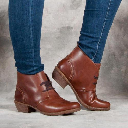Women Casual Daily Lace Up Ankle Boots