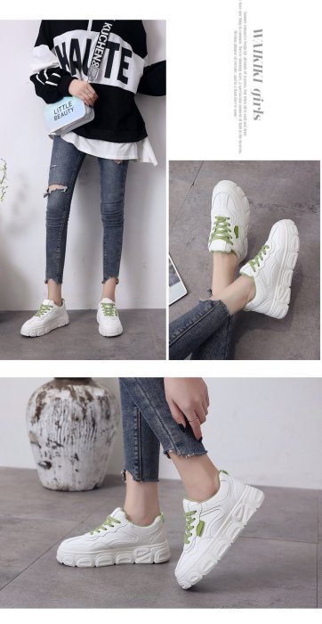 cuteshoeswearSpring and Winter Increased Small White Shoes Breathable Thick Bottom Outdoor Leisure Shoes Fashion Casual Shoes Women's Shoes