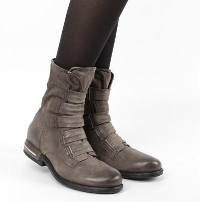 Womens Low Heel Ankle Boots Casual Round Toe Zipper All Season Boots