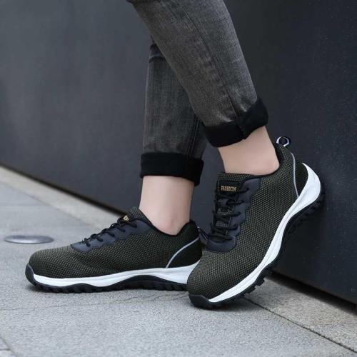Woman Lace-Up Elastic Cloth All Season Platform Sneakers