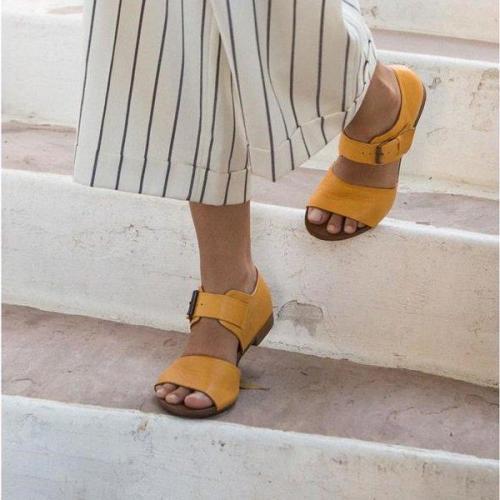 Women's Casual Low Heel Summer Sandal Shoes