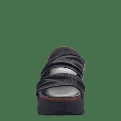 WEEKEND in BLACK Wedge Sandals