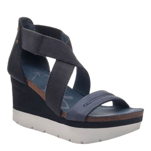 HALF MOON in KING BLUE Wedge Sandals
