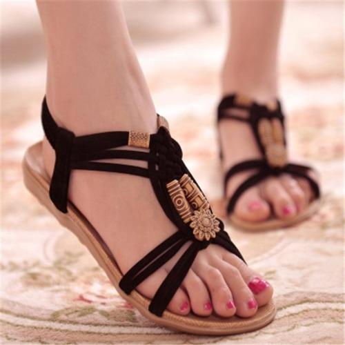 New Women Sandals Fashion Summer Women Shoes  Bohemia Gladiator Beach Flat Casual Sandals Leisure Female Ladies  Sandals Women