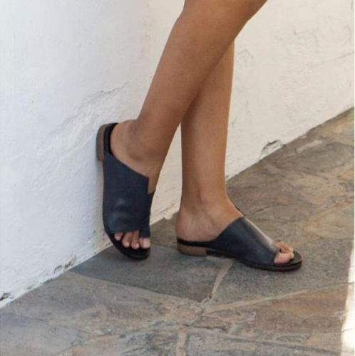 Women's Casual Open Toe Flat Heel Summer Shoes