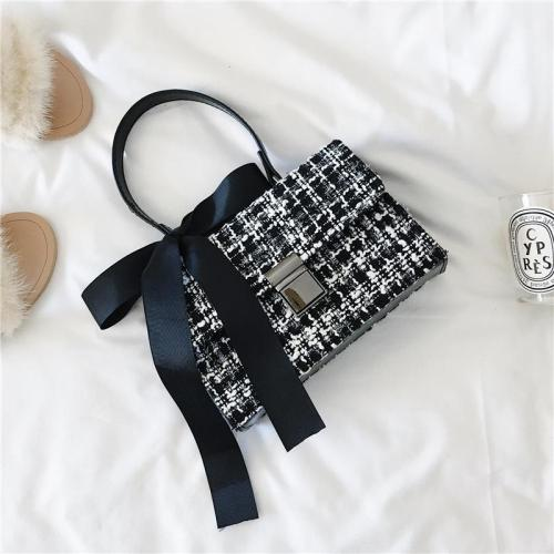 Elegant Fashion Business Rectangle Plaid Buckle One Shoulder Hand Bag