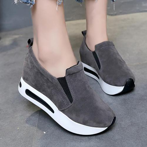 Women Flocking Sneakers Casual Comfort Slip On Shoes