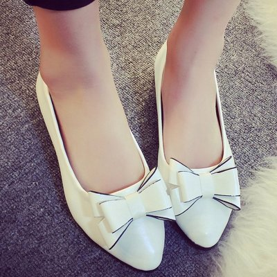 Women Flats Shoes 2019 Bow Loafers Slip on Flat Shoes Women Pointed Toe Soft Bottom Casual Female Flats Zapatos De Mujer