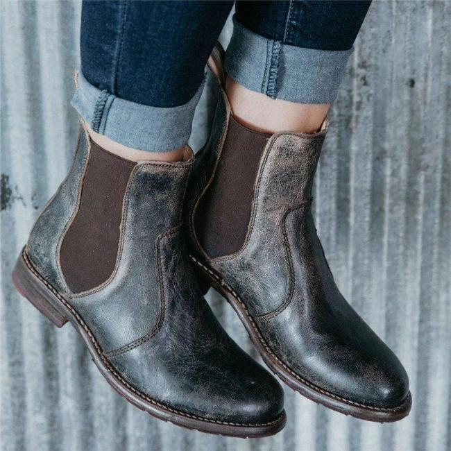 Women Casual Daily Comfy Slip On Ankle Boots