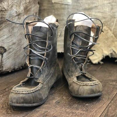 Vintage Style Lace Up Ankle Boots