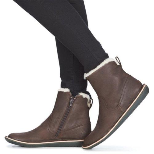 Women Casual Faux Leather Warm Winter Boots