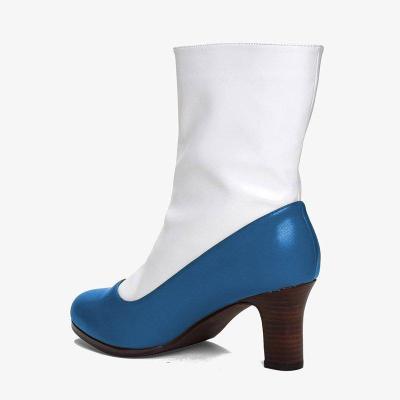 Women Slip-On Button Mid-Calf Boots