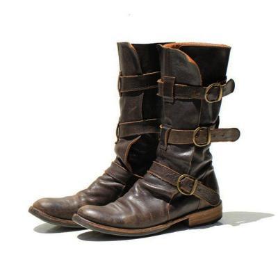 Women's Vintage Low Heel Boots