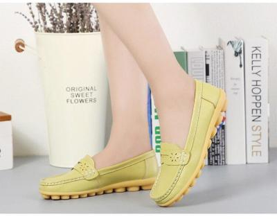 2018 New arrival Shoes Woman Leather Women Shoes Flats Colors footwear Loafers Slip On Women's Flat Shoes Moccasins