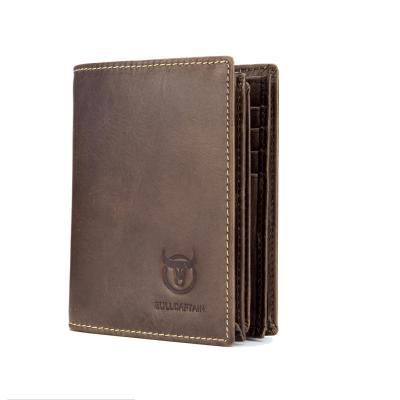 Bullcaptain Genuine Leather Short Wallets Vintage Card Holder 115344