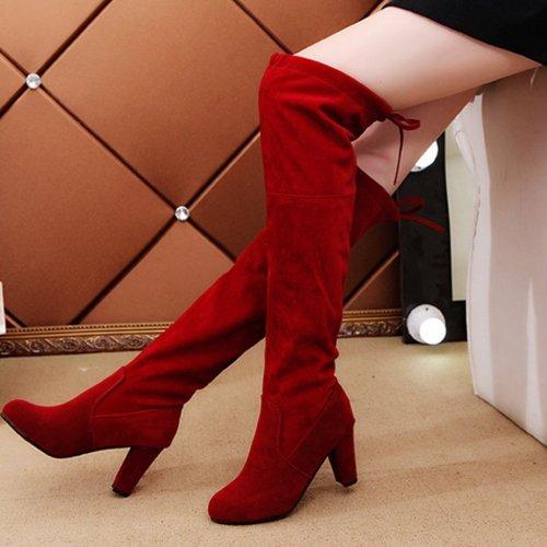 Sexy High Heels Elastic Boots