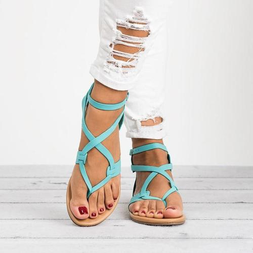 New Gladiator Sandals Women Flat Flip Flops Woman Summer Ankle Strap Casual Comfort Beach Shoes Sandalias Mujer 2018