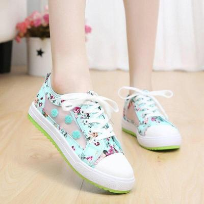 Women sneakers 2020 fashion breathable canvas casual shoes woman print mixed color women shoes sneakers zapatos de mujer