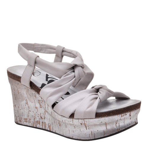 FAR SIDE in DOVE GREY Wedge Sandals