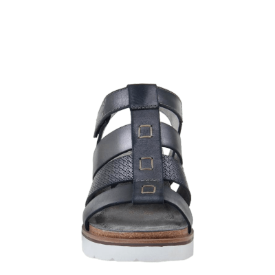 NEW MOON in NEW BLACK Wedge Sandals