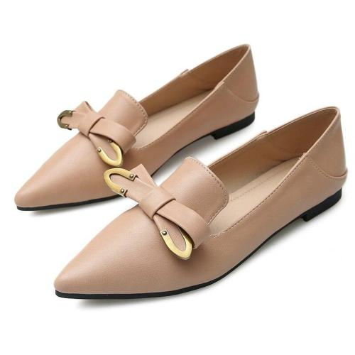 2019 Spring Pointed Flat Shoes Korean Bow Students Professional Casual Women's Working Loafers Comfortable Shoes YX0026