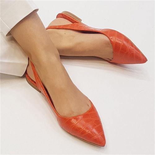 Women's Buckle Point Flat Shoes