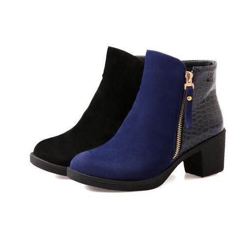 Zip Short Motorcycle Boots Plus Size Women Shoes 4665