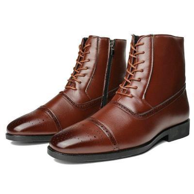 Leather Low Heel All Season Women's Shoes