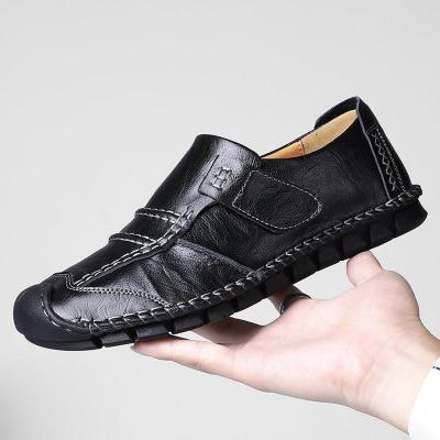 Hand Stitching Non Slip Anti-collision Hook Look Casual Leather Shoes