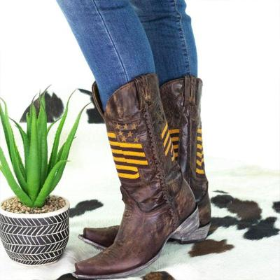 Casual Artificial Leather Knee Boots
