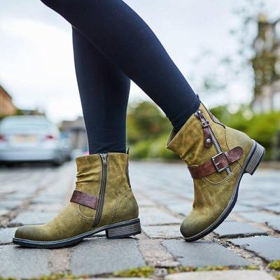 Women Causal Zipper Boots