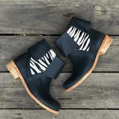 Casual Slip-on All Season Chunky Heel Ankle Boots