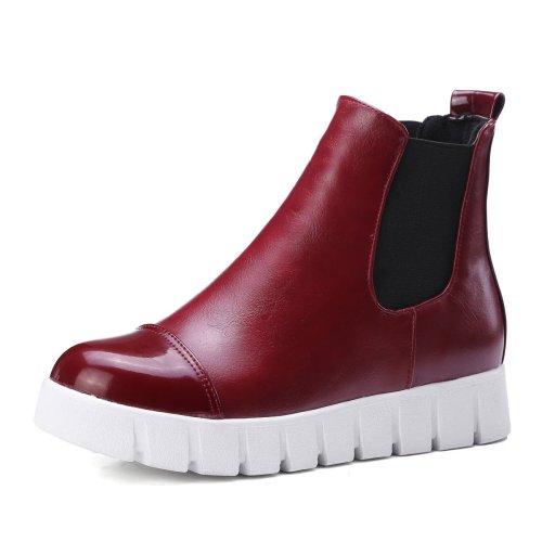 Pu Leather Platform Short Boots Plus Size Women Shoes 5072