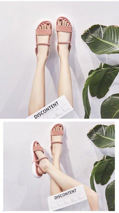 Platform Sandals Women Summer Shoes Flat Casual Women Sandals Sweet Ladies Sandals Pink Black Heel Height 3.5cm A1538