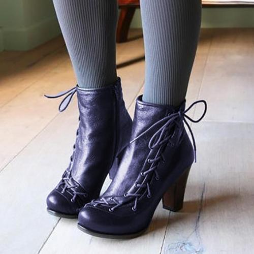 Women's Victorian Style Vintage Booties