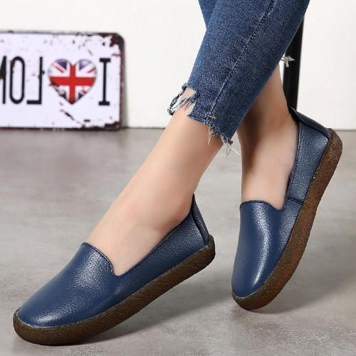 Women Flats Roman Style Women Shoes White Loafers For Women Nurse Casual Flat Shoes Genuine Leather Zapatos Mujer Sneakers Women