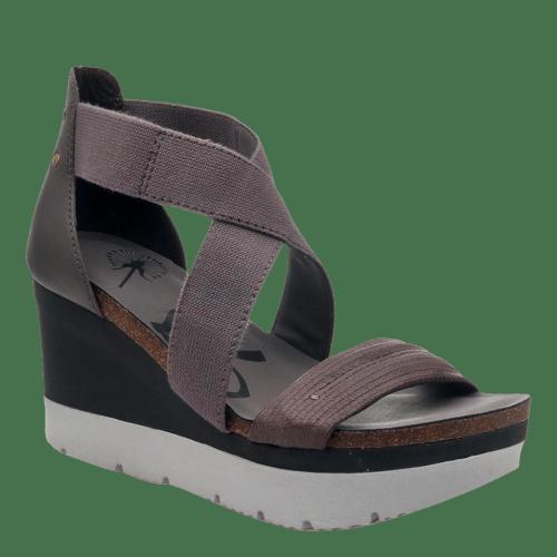 HALF MOON in CINDER Wedge Sandals